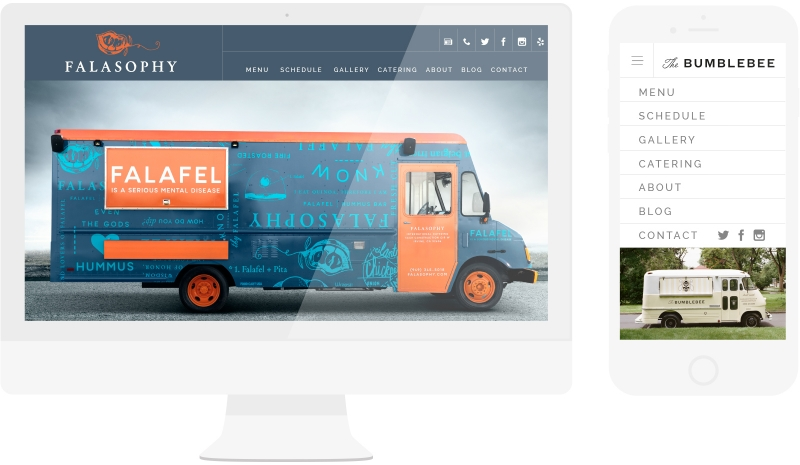 Food truck website design templates done right made for Design your food truck