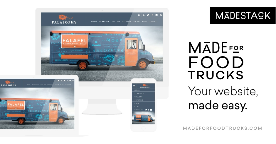 food truck website builder template made for food trucks